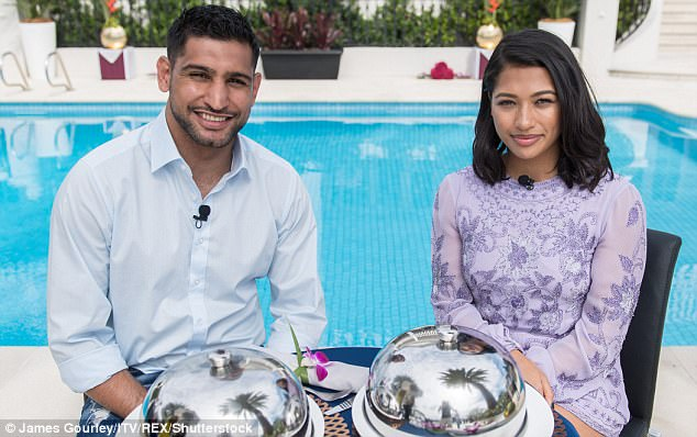 First encounters: Singer Vanessa White was paired up with boxer Amir Khan