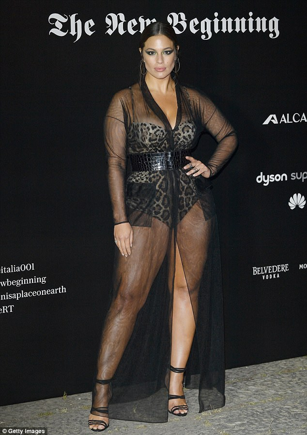 Wow factor: Ashley Graham put on quite the eye-popping display at the Vogue Italia The New Beginning Party on Friday night