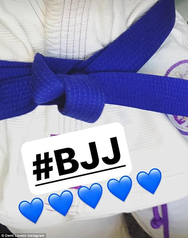 Love at first fight! The Sonny With A Chance starlet sports a makeup-free glow and ear-to-ear smile as she explained 'I fell in love with #BJJ over a year ago and have been training several times a week ever since'