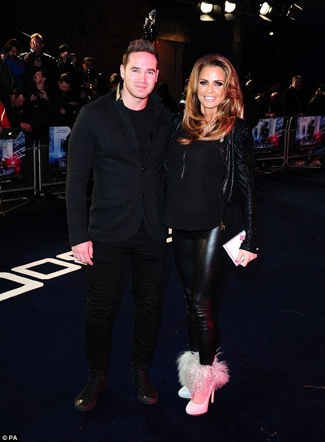Shock waves:Television sensation Katie is also going through the motions of divorcing her husband Kieran Hayler (here in 2014) after discovering he had been unfaithful again
