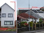 Andy Murray is facing a bill of almost £12,000 to demolish his dream home because it is 4 foot too wide, 6ft too high (left) and 9ft too long (right)