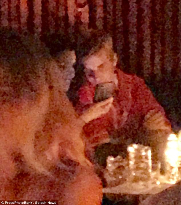 The storm? Later on Justin was spotted with a mystery girl at The Peppermint Club in Hollywood