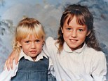 Sisters: Joanna Dennehy, six, curls a protective arm around her four-year-old baby sister Maria. Maria joined the Army and proudly fought for her country, while Joanna chose a sordid life of drugs and violence which culminated in her becoming one of Britain¿s few women serial killers