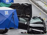 A taxi driver and his two passengers - a man and a woman - were killed in the crash