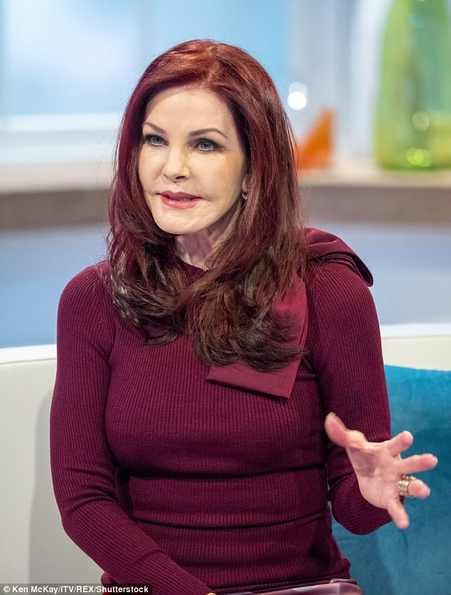 Discussions: Priscilla's appearance got viewers talking on social media following her interview on Monday's instalment of Lorraine as she promoted new compilation Elvis album and tour, Christmas with Elvis and The Royal Philharmonic Orchestra