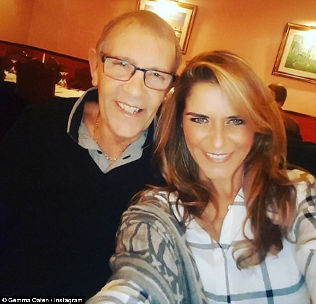 Heartbreal:Gemma Oaten has asked for prayers for her beloved father Dennis after receiving the devastating news that his prostate cancer has come back 'with a vengeance'