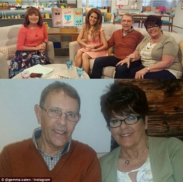 Awareness:Last year Gemma, along with her Dennis and her mum Marg appeared on Lorraine to raise awareness of prostate cancer and share their story as a family battling the condition. Dennis was initially diagnosed in 2011, and after treatment went into remission last year