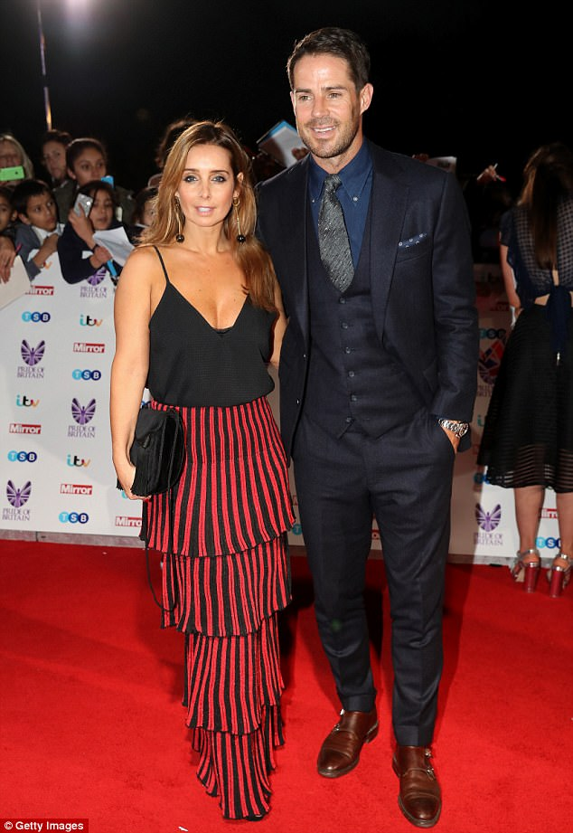 Marital woes? Jamie, to whom Louise has been married for 19 years, is said to be pushing for a 'quickie divorce' from the footballer-turned-pundit