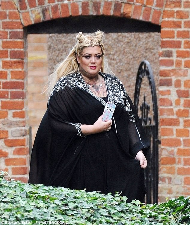 Spooky: Gemma Collins proved she has bounced back from her Teen Awards fall when she joined Chloe for filming
