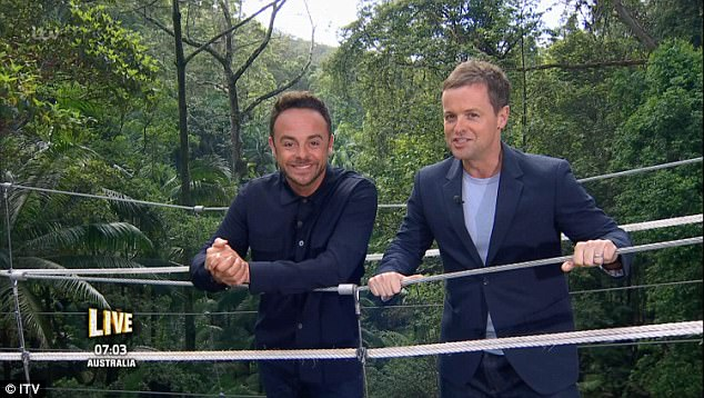 Here he is! Beaming widely for cameras and walking to their famous perch in the jungle for the first time this series, Ant proved he was back to his best