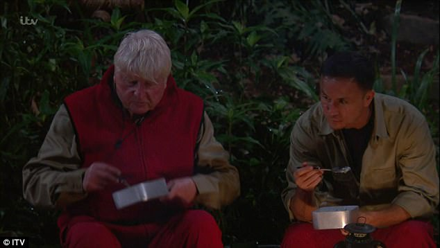 Apologetic: Talk in camp soon turned to meal tickets - with a dejected Stanley revealing the bad news