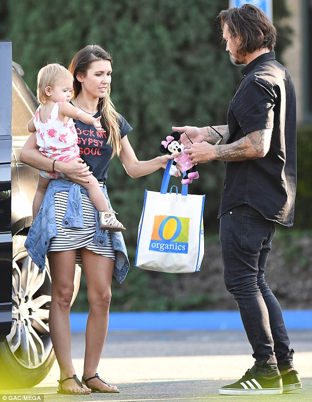 Meeting halfway: Audrina Patridge was seen with her now estranged partner Corey Bohan for the first time since news of their split earlier this week