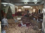 This is the aftermath of a suicide bomb attack at a Christian church in the Pakistani city of Quetta, killing eight people and wounding 42 others