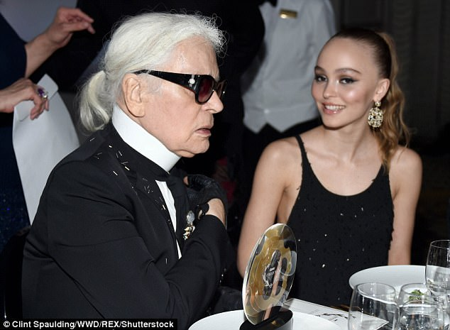 Rise to fame: It is no wonder she is close with Karl, having starred in a Chanel advert when she was 15