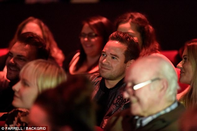 'I'm not talking about that!' Despite the former stripper sitting in the audience himself, one guest asked if his presence meant she was going to take him back