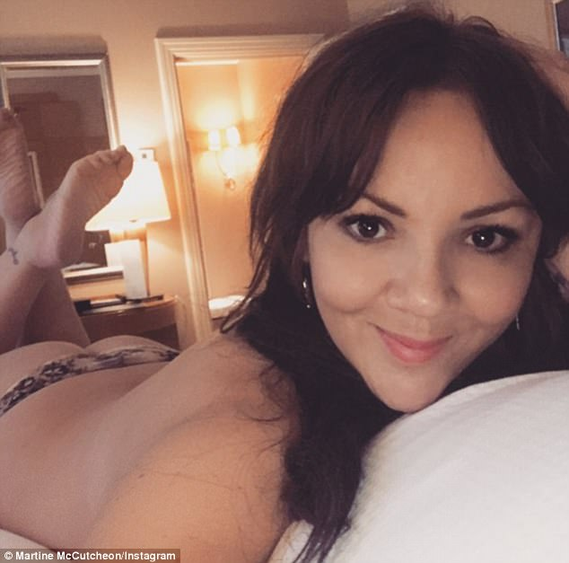 'It's a cheeky night!'Martine McCutcheon insists she is as shocked as anyone at her raunchy antics as she blamed the sexy snap, which amassed nearly 10,000 likes, on one too many wines earlier in the evening when she went to see Dreamgirls in the West End