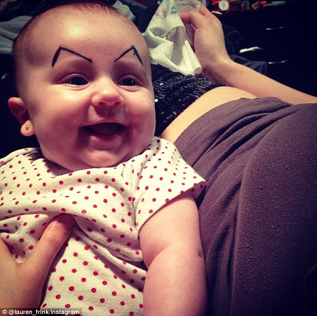 'Wait ... Did you say ice cream?': Photos of babies with fake eyebrows drawn on their faces is the latest craze to fill up the likes of Facebook, Instagram and Pinterest