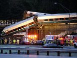 An Amtrak train derailed near DuPont, Washington around 7:40am Monday
