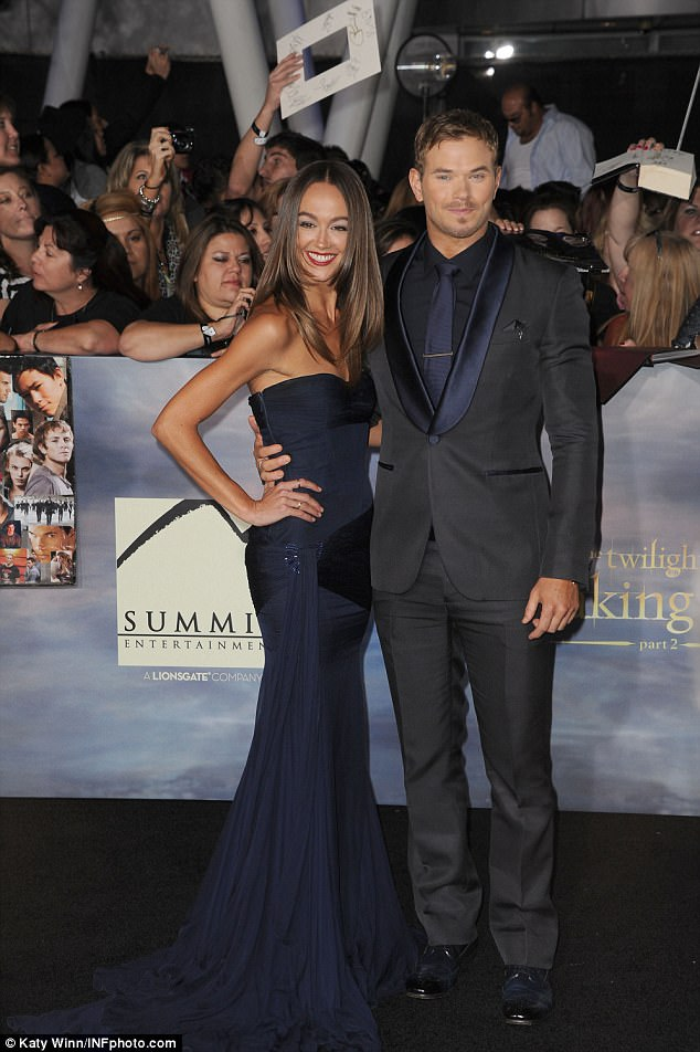 Former flame: Kellan previously dated Australian actress Sharni Vinson (pictured 2012)