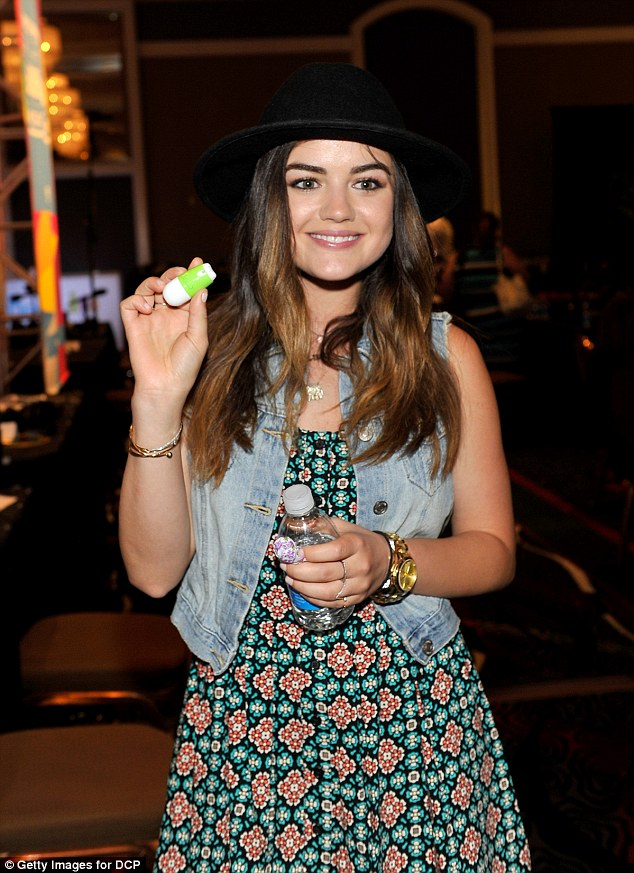 Pretty Little Liar: Lucy Hale came to check out the various items at the gifting suite
