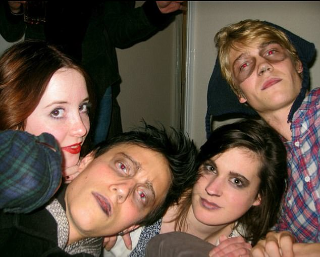Parties: Alwyn, pictured at a fancy dress party during his time at University of Bristol where he studied English and Drama, was a committed and ambitious student, friends have said
