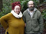 Kate Burrows, 46, and her partner Alan, 48, built their house from tree trunks, mud and straw, in the Tarka Valley, near Chulmleigh, Devon