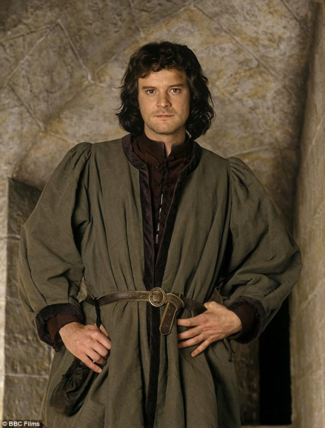 Way back when: Firth is seen in costume in the 1993 movie The Advocate, in which he worked with Dix