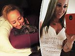 Bethany Lynn Stephens (pictured with one of her killer dogs) was found dead in a 'grisly' scene on Thursday night, two days after she was last seen heading out to walk her dogs in the woods near her Goochland, Virginia home