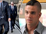 Former Glee star Mark Salling (pictured arriving at court, Monday) has pleaded guilty to possession of child pornography