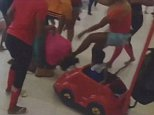 BRAWL! Video of the squabble shows six women duke it out in the Edison Mall in Fort Myers, Florida, over the weekend