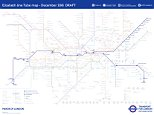 The new Tube map was released today to mark one year from the opening of the Elizabeth line. In December 2018 the line will operate in three sections from Heathrow Airport in the west to Abbey Wood and Shenfield in the east