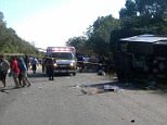Several Americans are believed to be among the 12 people who died in the bus crash