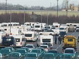 A group of travellers parked more than 65 caravans in Cambridge North train station car park over the weekend