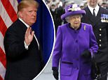 Just a working visit: Trump's decision not to have a state visit means he will only meet the prime minister, Theresa May, and not the Queen