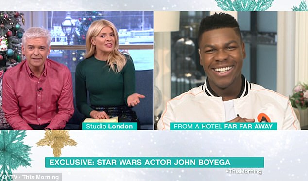 Slip of the tongue: In the same interview, Holly revealed  that iconic character Yoda is set to return in the movie. Clearly dumbstruck and slightly panicked, Holly tried to cover her tracks. 'I don't know what happens. But it's out there,' she stammered