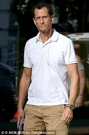 Weiner is, however, still spending time with Abedin and their son, Jordan, in their Manhattan apartment