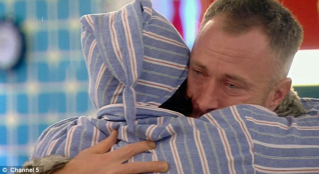 Emotional:As he made his rounds and said goodbye, James Jordan was particularly upset, breaking down in tears as he hugged the musician