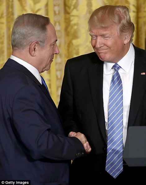 President Donald Trump (right) will meet Israel's prime minister, Benjamin Netanyahu (left), during his visit to Israel next week