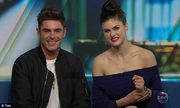 What else do they share in bed? Zac says he and Alexandra have 'Nothing but a shared... love of pickles' following swirling rumours of a romance between the pair
