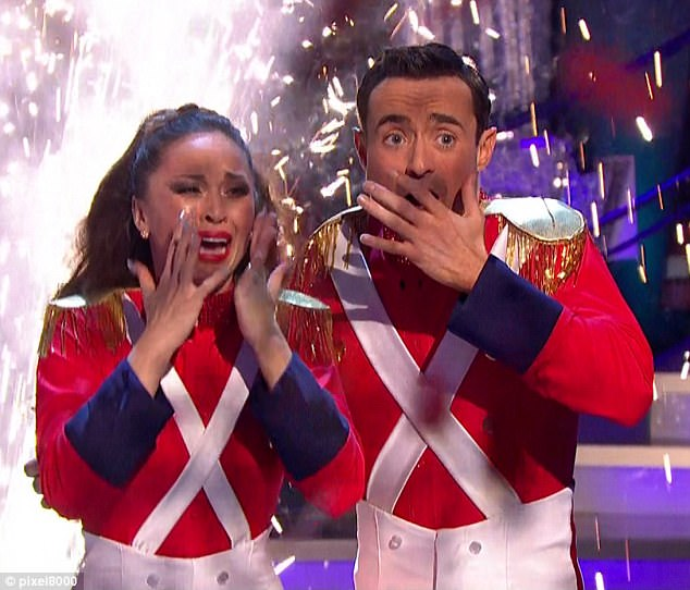 The pro dancer couldn't hide her emotion when she learned that she and former Holby City actor Joe McFadden had triumphed