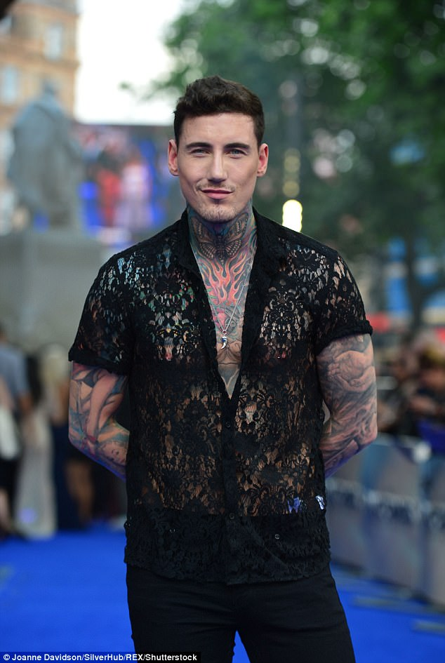 Brushing it off! Meanwhile, Jeremy McConnell (pictured in London, June 2017) prepares to spend Christmas behind bars after breaching his community order