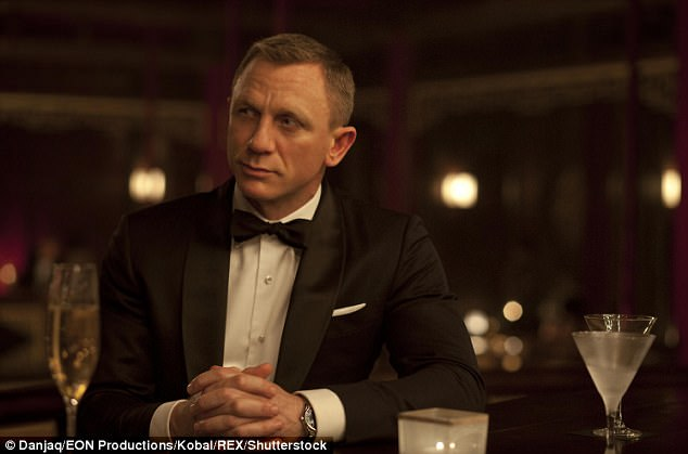 It's an honour:A handful of singers from the great and the good of the music industry have had the honour to write the 007 theme song for the past five decades (pictured: Daniel Craig in 2012's Skyfall)