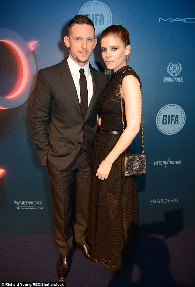 Sophisticated pair:Kate Mara, 34, and husband Jamie Bell, 31, elevated the standards of their conventional date night on Sunday, as they graced the red carpet at the British Independent Film Awards in London's Old Billingsgate venue