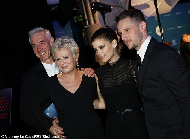Industry pals: The pair was joined by legendary actress Julie Walters and husband Grant Roffey