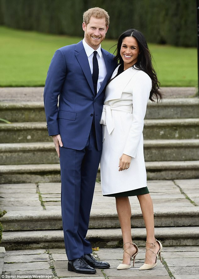 Royal couple: Doria had previously kept tight-lipped about the couple's blossoming relationship but said in a joint announcement with Thomas Markle: 'We are incredibly happy for Meghan and Harry'