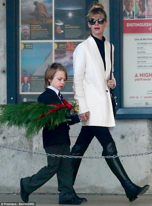 Proud mama: January Jones certainly looked every inch the perfect mother as she enjoyed some quality time with her son Xander in LA