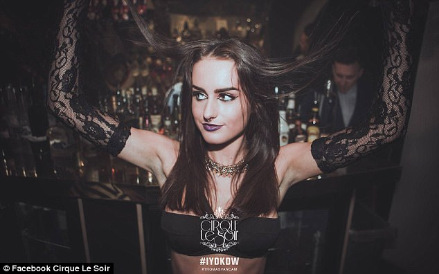 Racy: Playing along to steamy dominatrix-inspired scenes during a wild night, the now-reality star shows off her wild side