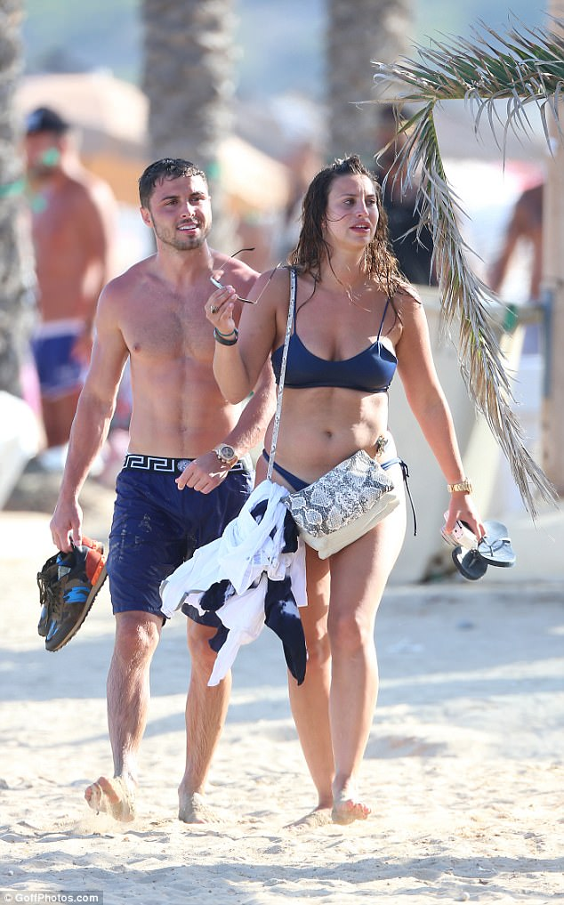 Arthur Collins and Ferne McCann pictured here on holiday in Ibiza