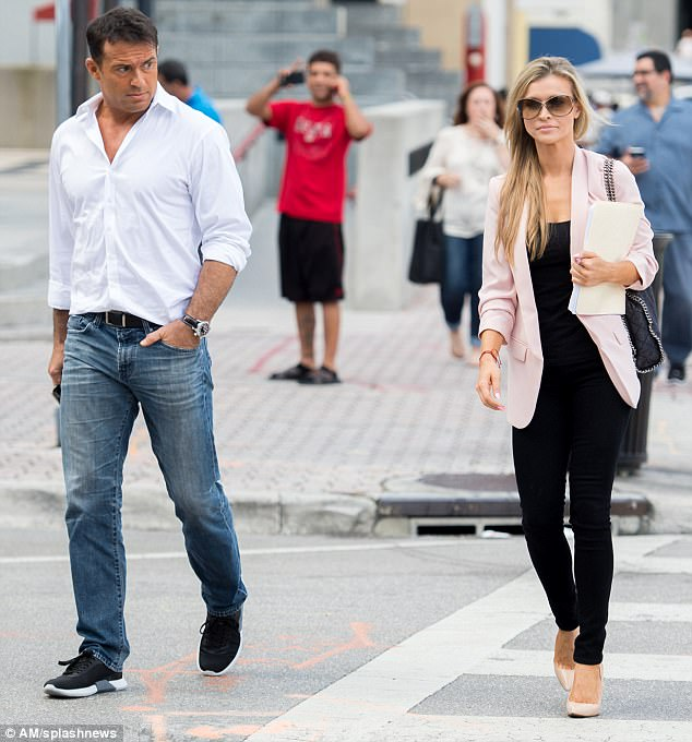 Over: On Thursday she finalized her divorce withRomain Zago as they were at a courthouse in Miami for just 15 minutes