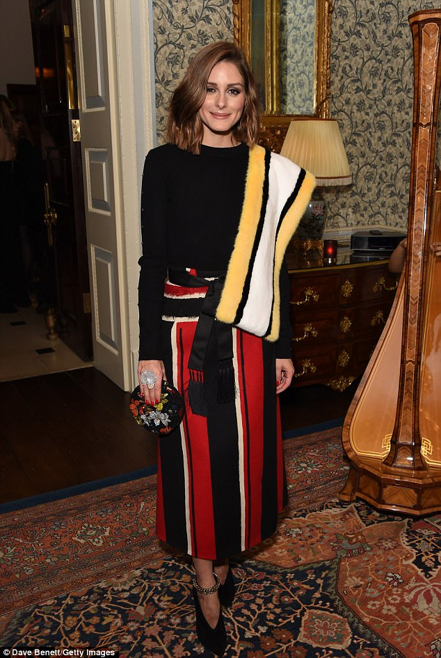 Style icon:Olivia Palermo looked as chic as ever as she hosted the Iris Alexander Fine Diamond Jewellery Collection Launch at The Ritz in London on Tuesday